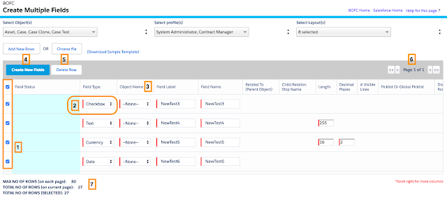 Create Multiple Fields Salesforce