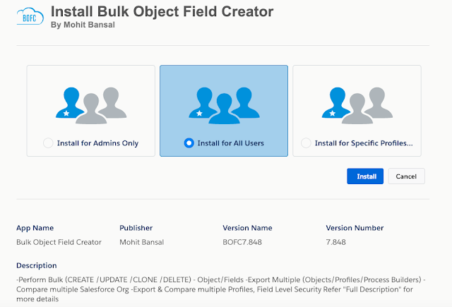 Install Bulk Object Field Creator