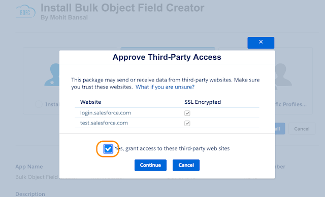 Approve Third Party Access
