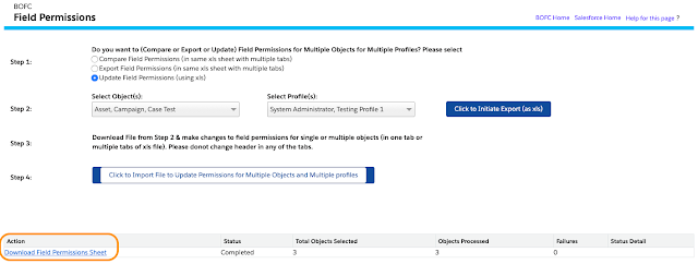 Field Permissions for Multiple Profiles