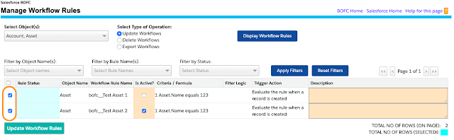 Update Workflow Rules