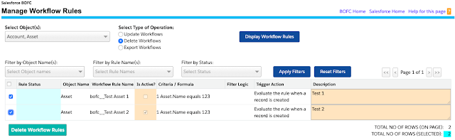 Delete Multiple Workflow Rules in salesforce
