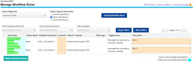 Delete Multiple workflow Rules in Salesforce