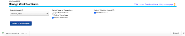 Manage Export Workflow Rules