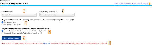 Export Single/Multiple Profiles