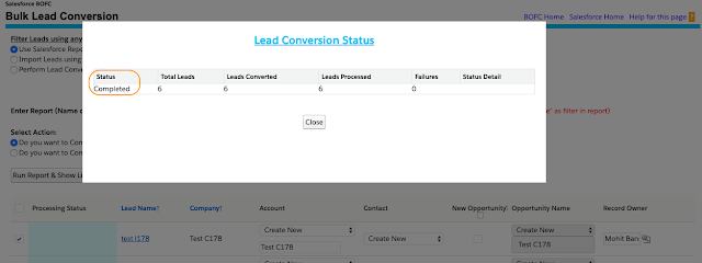 Convert Bulk Leads using Standard Conversion