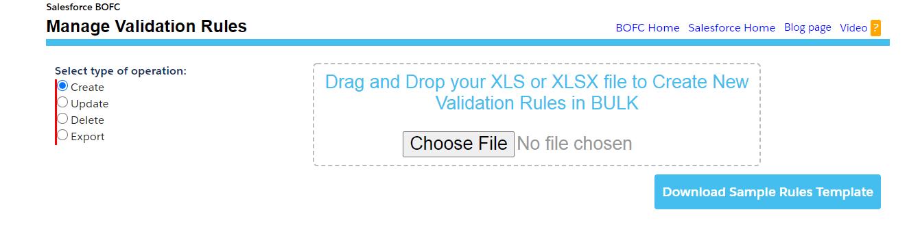 Create Validation Rules