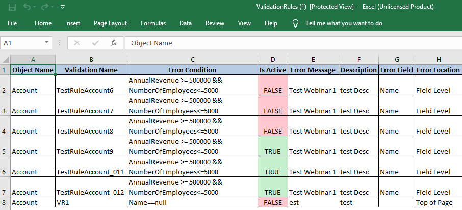Download Validation Rules