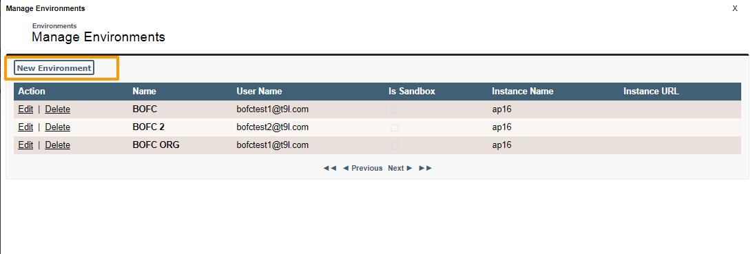 Manage Org details