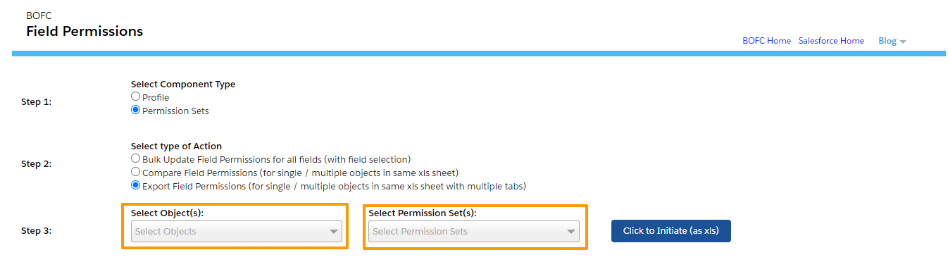 Compare or Export Field Permission