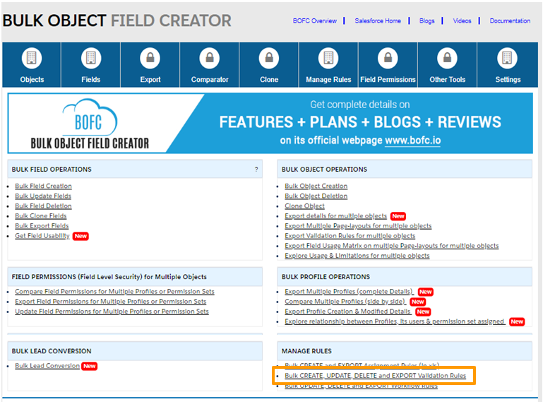Update Validation Rules in salesforce