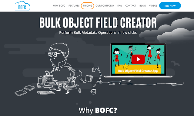 webpage of BOFC application