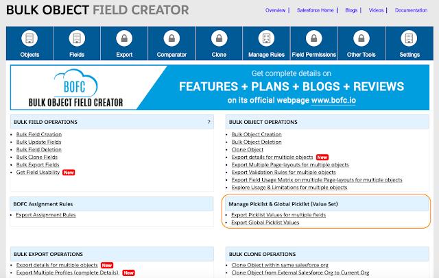 Export Picklist Values for multiple fields