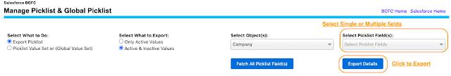 Select Single or Multiple Picklist